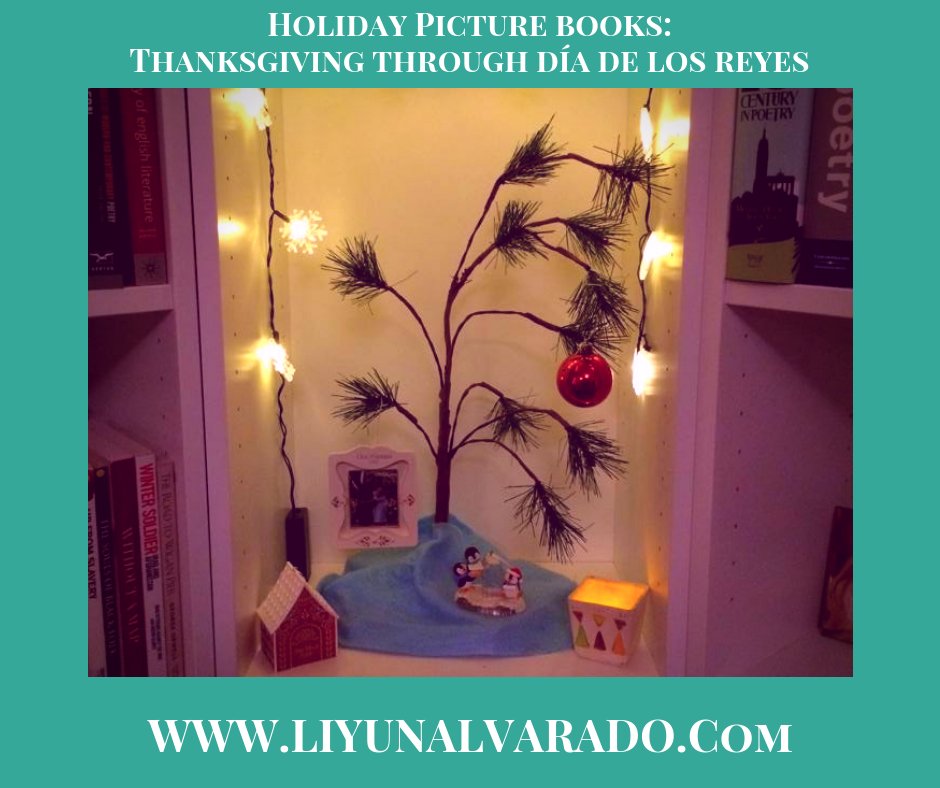 Holiday Picture Books (Charlie Brown Christmas Tree surrounded by Ornaments).