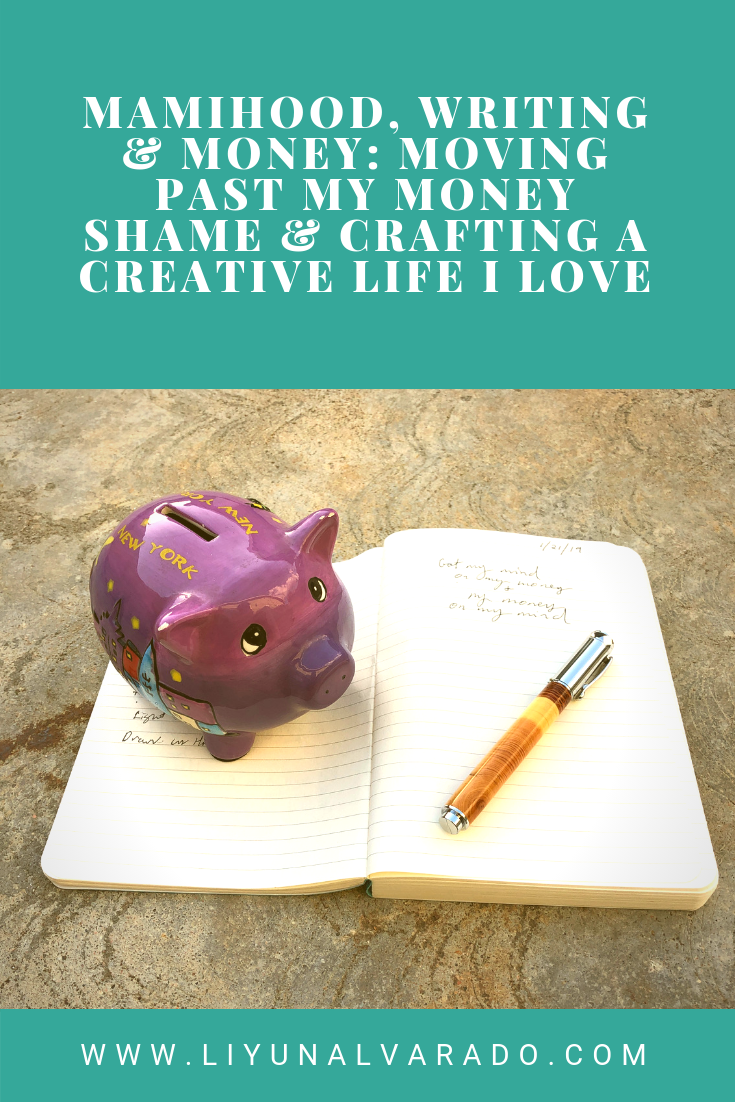 A piggy bank and pen sitting on a notebook. The title reads: